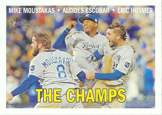 2016 Topps Heritage #1 Mike Moustakas/Alcides Escobar/Eric Hosmer