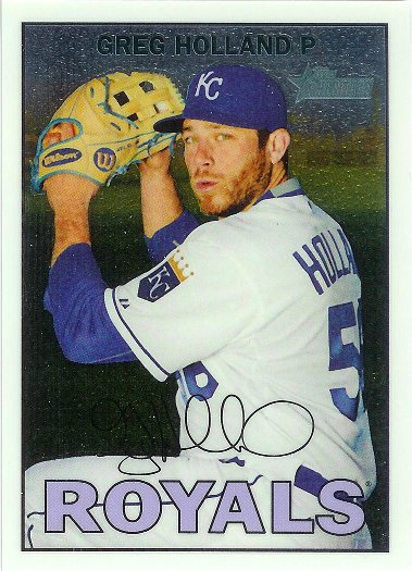 2016 Topps Heritage Chrome #441 Greg Holland