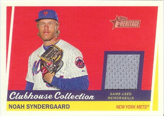 2016 Topps Heritage Clubhouse Collection Relics #CCR-NS Noah Syndergaard