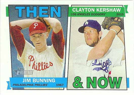 2016 Topps Heritage Then and Now #TAN-BK Jim Bunning