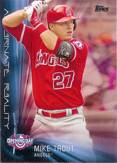 2016 Topps Opening Day Alternate Reality #AR-8 Mike Trout