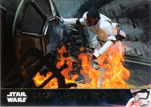 2016 Topps Star Wars The Force Awakens Gold #20 Crash Landing on Jakku