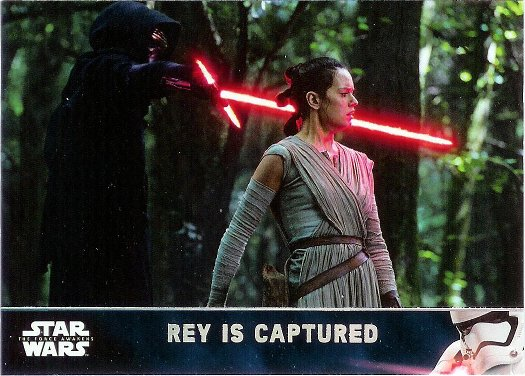 2016 Topps Star Wars The Force Awakens Holofoil #66 Rey is Captured