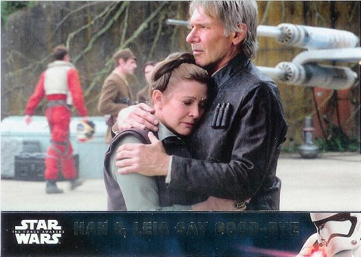 2016 Topps Star Wars The Force Awakens #79 Han & Leia Say Good-Bye