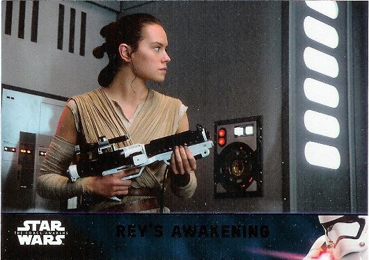 2016 Topps Star Wars The Force Awakens Lightsaber Purple #81 Rey's Awakening