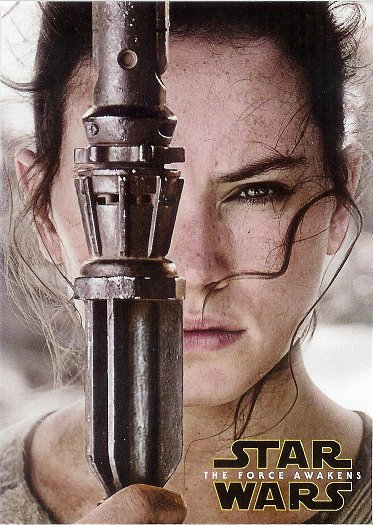 2016 Topps Star Wars The Force Awakens Character Posters #1 Rey