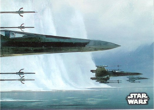 2016 Topps Star Wars The Force Awakens Concept Art #1 Resistance X-wing Fighter