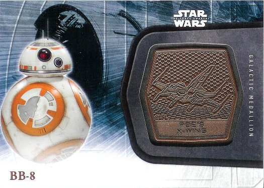 2016 Topps Star Wars The Force Awakens Medallions Bronze #27 BB-8