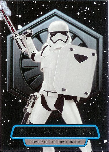 2016 Topps Star Wars The Force Awakens Power of the First Order #9 Riot Control Stormtrooper