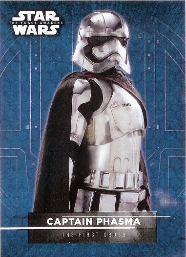 2016 Topps Star Wars The Force Awakens Sticker #4 Captain Phasma