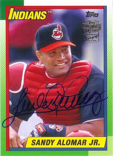 2016 Topps Archives Fan Favorites Autographs #FFA-SA Sandy Alomar Jr.