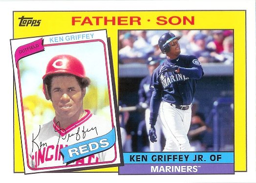 2016 Topps Archives 1985 Father Son #FS-GG Ken Griffey Jr. / Ken Griffey Sr.