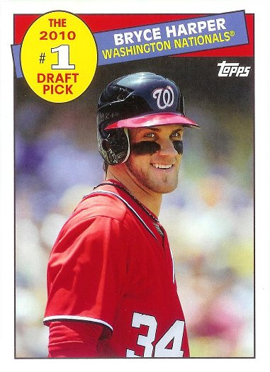 2016 Topps Archives 1985 Topps #1 Draft Pick #85DP-BH Bryce Harper