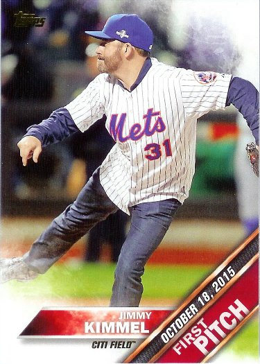 2016 Topps First Pitch #FP-2 Jimmy Kimmel