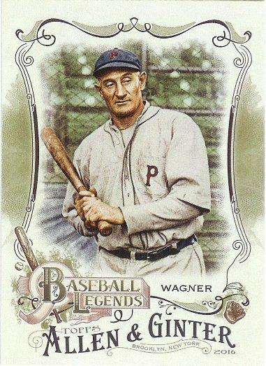 2016 Allen & Ginter Baseball Legends #BL-17 Honus Wagner