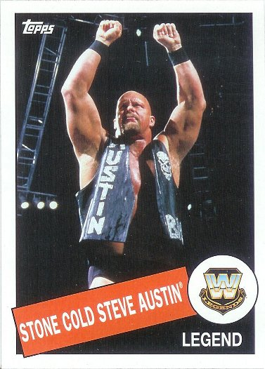 2015 Topps Heritage WWE #44 Stone Cold Steve Austin