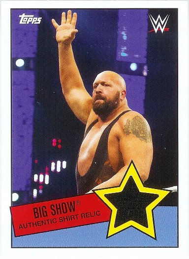 2015 Topps Heritage WWE Shirt Swatch Relics # Big Show