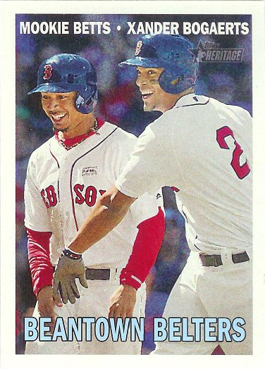 2016 Topps Heritage Combo Cards #CC-11 Xander Bogaerts / Mookie Betts