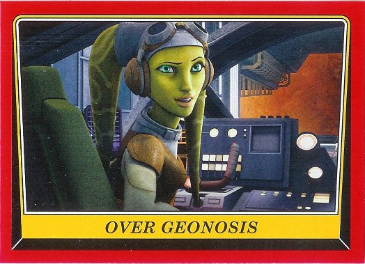 2016 Topps Star Wars Rogue One: Mission Briefing #17 Over Geonosis