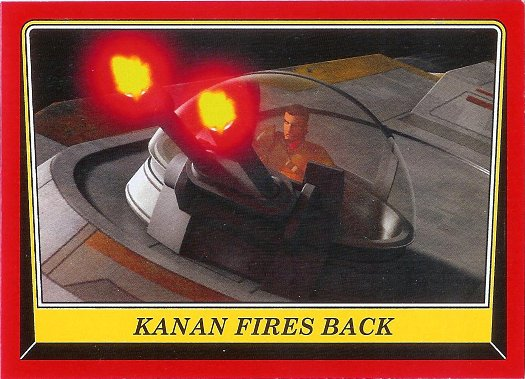 2016 Topps Star Wars Rogue One: Mission Briefing #20 Kanan fires back