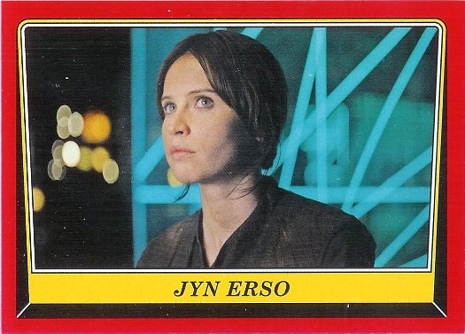 2016 Topps Star Wars Rogue One: Mission Briefing #101 Jyn Erso