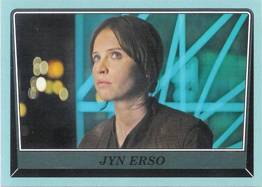 2016 Topps Star Wars Rogue One: Mission Briefing Gray Squadron #101 Jyn Erso