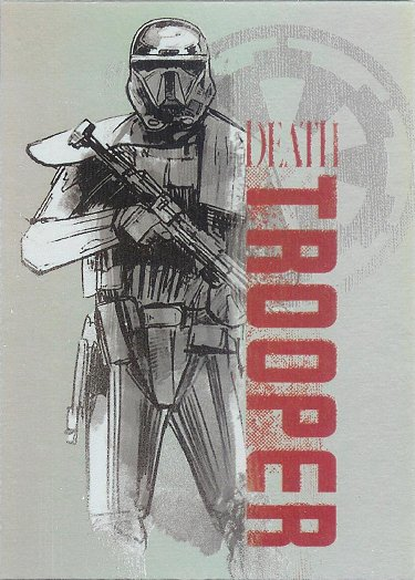 2016 Topps Star Wars Rogue One: Mission Briefing Character Silhouette Foils #8 Death Trooper