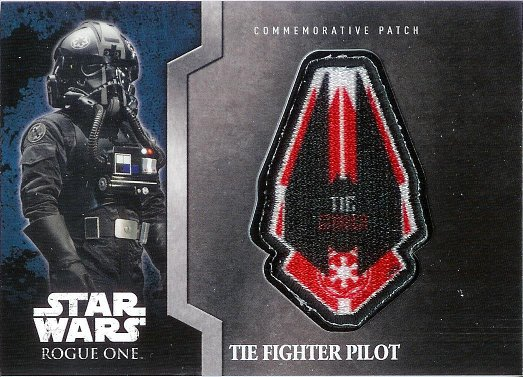 2016 Topps Star Wars Rogue One: Mission Briefing Patches #MP-6 TIE Fighter Pilot - TIE Fighter