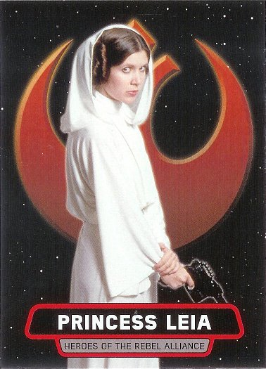 2016 Topps Star Wars Rogue One: Mission Briefing Heroes of the Rebel Alliance #2 Princess Leia