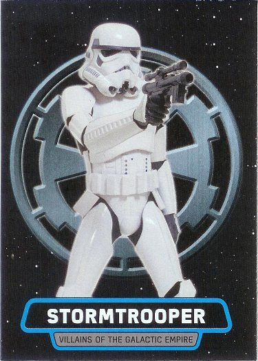 2016 Topps Star Wars Rogue One: Mission Briefing Villains of The Galactic Empire #8 Stormtrooper