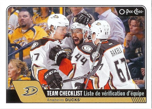 2016-17 O-Pee-Chee #616 Anaheim Ducks CL SP