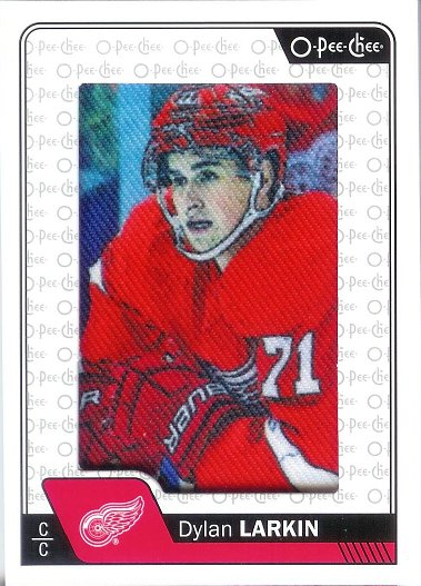 2016-17 O-Pee-Chee Manufactured Card Patch #P-14 Dylan Larkin