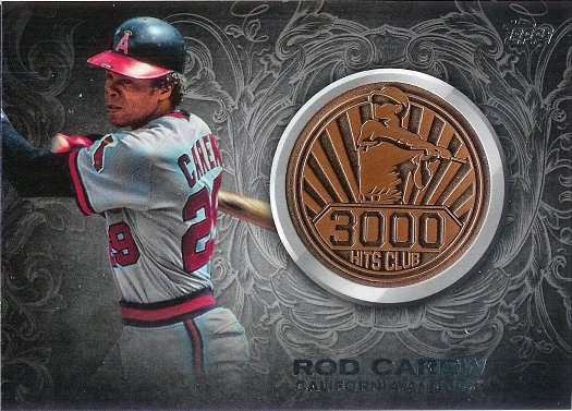 2016 Topps 3000 Hits Club Medallions Bronze #3000M-16 Rod Carew