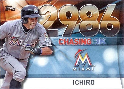 2016 Topps Chasing 3K #3000-56 Ichiro
