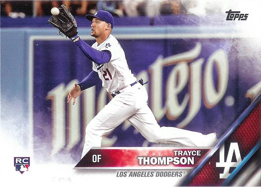 2016 Topps Update #US190 Trayce Thompson RC VAR SP (Horizontal Catching Ball)