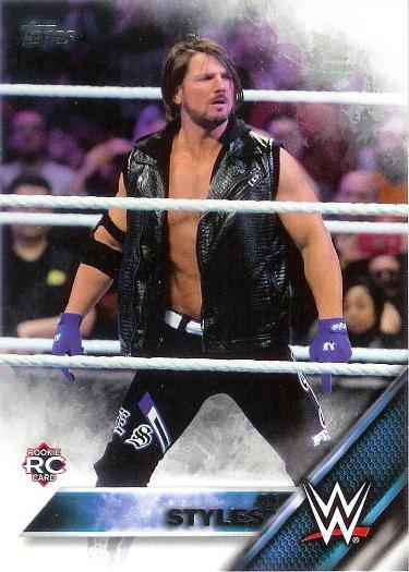 2016 Topps WWE #102 AJ Styles