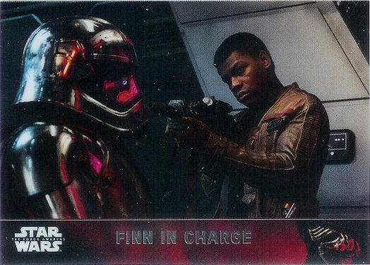 2016 Topps Star Wars The Force Awakens Chrome #85 Finn in Charge