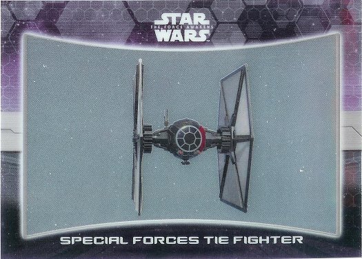2016 Topps Star Wars The Force Awakens Chrome Ships and Vehicles #5 Special Forces TIE Fighter