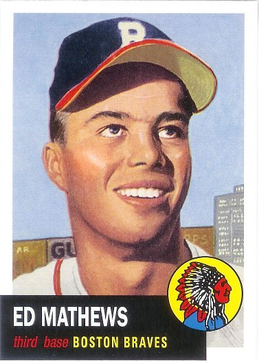 2016 Topps Archives 65th Anniversary Edition #A65-EM Eddie Mathews