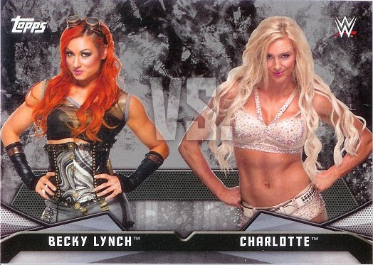 2016 Topps WWE Divas Revolution Rivalries #6 Becky Lynch vs. Charlotte