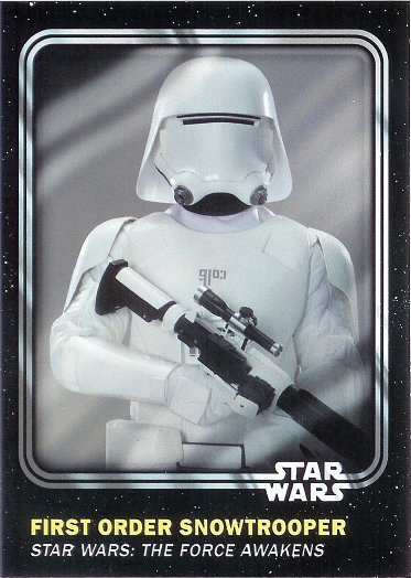 2016 Topps Star Wars Card Trader #100 First Order Snowtrooper
