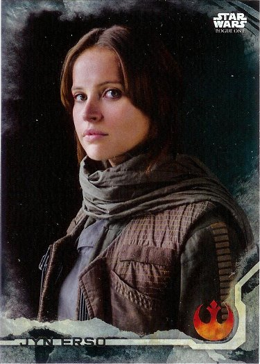 2016 Topps Star Wars Rogue One Death Star Black #1 Jyn Erso