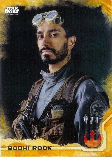 2016 Topps Star Wars Rogue One Gold Squadron #4 Bodhi Rook