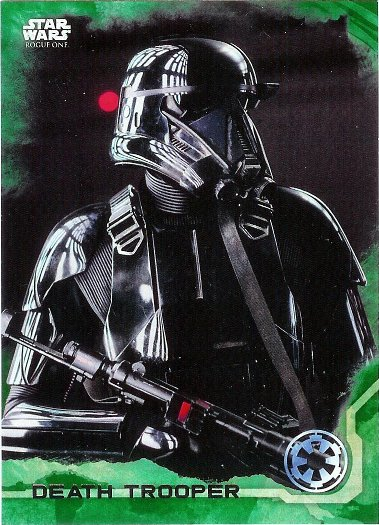 2016 Topps Star Wars Rogue One Green Squadron #12 Death Trooper