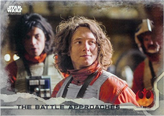 2016 Topps Star Wars Rogue One Gray Squadron #72 The Battle Approaches