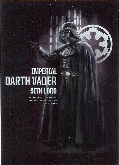 2016 Topps Star Wars Rogue One Darth Vader #7 Darth Vader