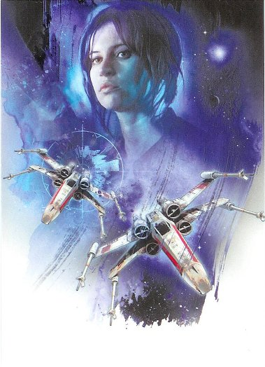 2016 Topps Star Wars Rogue One Montage Cards #M-8 Jyn and X-Wings