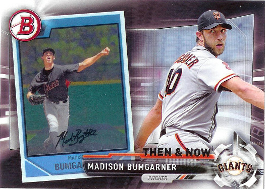 2017 Topps Bowman Then & Now #BOWMAN-5 Madison Bumgarner