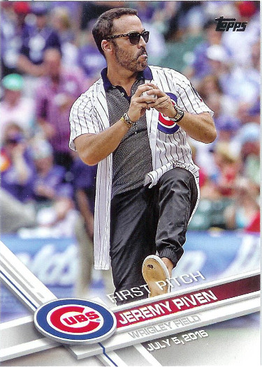 2017 Topps First Pitch #FP-4 Jeremy Piven
