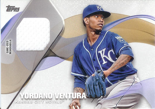 2017 Topps Major League Material Relics #MLM-YV Yordano Ventura